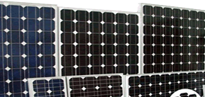 A range of Solar panels we stock