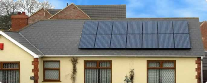 3kw Solar panel system on the roof of a bungalow