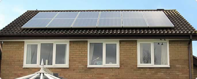 4kw Solar panel system on the roof of a house