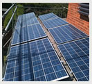 Wombourne house with a 4kw solar panel installion on its roof